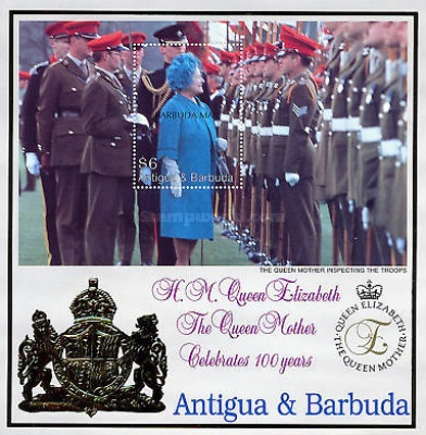 [The 100th Anniversary of the Birth of Queen Elizabeth the Queen Mother, 1900-2002 - Issue of 2000 of Antigua & Barbuda Overprinted