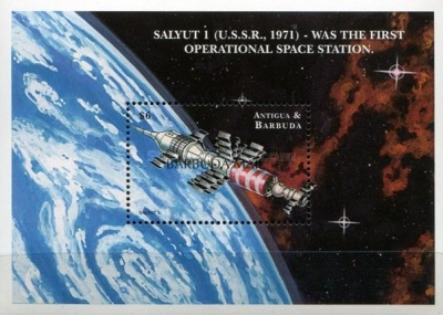 [Exploration of Outer Space - Issue of 2000 of Antigua & Barbuda Overprinted