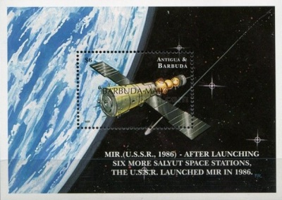 [Exploration of Outer Space - Issues of 2000 of Antigua & Barbuda Overprinted