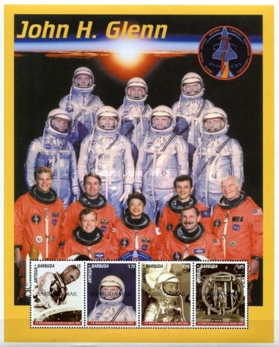 [The Second Space Flight of John Glenn - Issues of 1999 of Antigua & Barbuda Overprinted