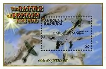 [The 60th Anniversary of the Battle of Britain - Issue of 2000 of Antigua & Barbuda Overprinted
