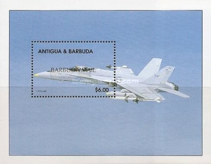 [Modern Combat Aircraft - Issue of 1998 of Antigua & Barbuda Overprinted