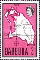 [Map of Barbuda, type B2]