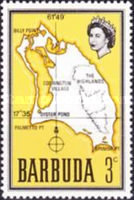 [Map of Barbuda, type B3]