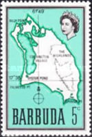 [Map of Barbuda, type B5]