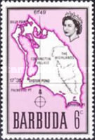 [Map of Barbuda, type B6]