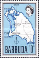 [Map of Barbuda, type B7]