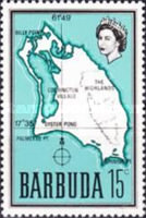 [Map of Barbuda, type B8]