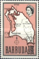 [Map of Barbuda Issue of 1968 Surcharged, type B9]