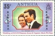 [Wedding of Princess Anne & Mark Phillips - Antigua Postage Stamps Overprinted