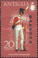[Military Uniforms - Antigua Postage Stamps Overprinted