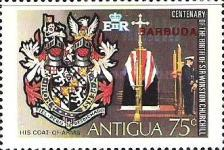 [The 100th Anniversary of the Birth of Winston Churchill, 1874-1965 - Antigua Postage Stamps Overprinted