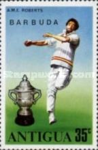 [Cricket World Cup - Antigua Postage Stamps Overprinted