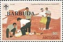[Jamboree, Jamaica - Antigua Postage Stamps Overprinted