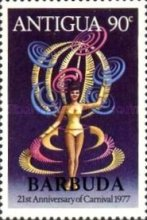 [The 21st Carnival in Antigua - Antigua Postage Stamps Overprinted