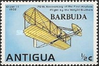 [The 75th Anniversary of the First Flight by the Wright Brothers - Antigua Postage Stamps Overprinted