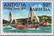 [Sailing Week - Antigua Postage Stamps Overprinted