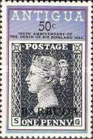[The 100th Anniversary of the Death of Rowland Hill - Antigua Postage Stamps Overprinted