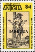 [Easter - Paintings. Antigua Postage Stamps Overprinted