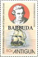 [The 200th Anniversary of the Death of Captain James Cook - Antigua Postage Stamps Overprinted