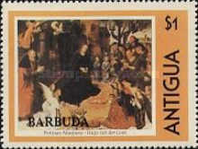 [Paintings - Antigua Postage Stamps Overprinted