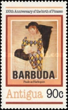 [The 100th Anniversary of the Birth of Pablo Picasso - Antigua Postage Stamps Overprinted