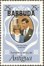 [Wedding of Prince Charles and Lady Diane Spencer - Antigua Postage Stamps Overprinted