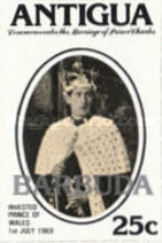[Wedding of Prince Charles and Lady Diana Spencer - Antigua Postage Stamps Overprinted