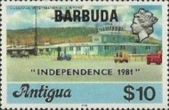 [Independence - Antigua Postage Stamps Overprinted, Typ KJ10]