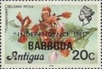 [Independence - Antigua Postage Stamps Overprinted, Typ KJ2]