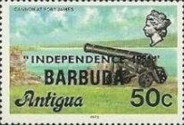 [Independence - Antigua Postage Stamps Overprinted, Typ KJ5]