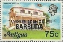 [Independence - Antigua Postage Stamps Overprinted, Typ KJ6]