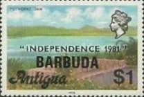 [Independence - Antigua Postage Stamps Overprinted, Typ KJ7]