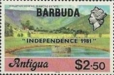 [Independence - Antigua Postage Stamps Overprinted, Typ KJ8]