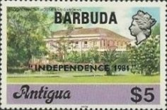 [Independence - Antigua Postage Stamps Overprinted, Typ KJ9]