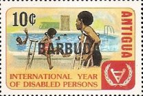 [International Year of the Disabled - Antigua and Barbuda Postage Stamps Overprinted