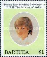 [The 21st Anniversary of the Birth of H.R.H. The Princess of Wales, type KR]
