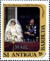 [The 21st Anniversary of the Birth of H.R.H. The Princess of Wales - Antigua and Barbuda Postage Stamps Overprinted