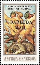[The 500th Anniversary of the Birth of Raphael - Antigua and Barbuda Overprinted