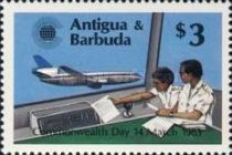 [Commonwealth Day - Issues of 1983 of Antigua & Barbuda Overprinted