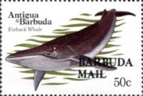 [Whales - Issues of 1983 of Antigua & Barbuda Overprinted