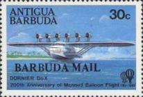 [The 200th Anniversary of Manned Flight - Issues of 1983 of Antigua Overprinted