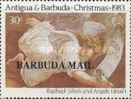 [Christmas - The 500th Anniversary of the Birth of Raphael, 1483-1520 - Issues of 1983 of Antigua & Barbuda Overprinted
