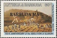 [The 150th Anniversary of the Abolition of Slavery - Issues of 1984 of Antigua & Barbuda Overprinted