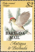 [Songbirds - Issues of 1984 of Antigua & Barbuda Overprinted