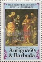 [The 450th Anniversary of the Death of Correggio, Painter, 1489-1534 - Issues of 1984 of Antigua & Barbuda Overprinted