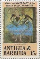 [The 150th Anniversary of the Birth of Edgar Degas, Painter, 1834-1917 - Issues of 1984 of Antigua & Barbuda Overprinted