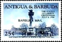 [The 100th Anniversary of the Statue of Liberty, New York - Issues of 1985 of Antigua & Barbuda Overprinted