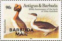 [Birds - The 200th Anniversary of the Birth of John James Audubon, 1785-1851 - Issues of 1985 of Antigua & Barbuda Overprinted