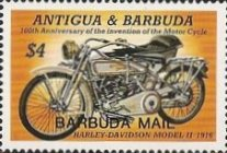 [The 100th Anniversary of the Motorcycle - Issues of 1985 of Antigua & Barbuda Overprinted